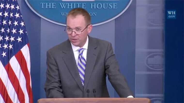 OMB director Mick Mulvaney